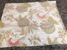 Pottery Barn Palampore Floral Standard Pillow Sham Coral Pink Green