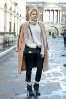 Monsoon Camel Beige Harry Slim Trench Wool Warm Winter Coat Long Jacket 6 to 22