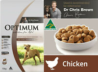 Optimum 15kg Chicken Rice and Vegetables Dry Dog Food Vet Chris Brown Recommends