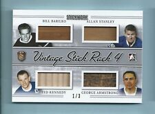 BARILKO KENNEDY STANLEY ARMSTRONG 2017 STICKWORK VINTAGE GAME USED STICK # 1/3