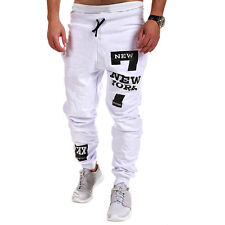 Men's Trousers Sweatpants Baggy Harem Pants Print Slacks Casual Jogger Sportwear