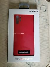 New Samsung Official OEM Galaxy Note 10+ Leather back Cover Case - Red