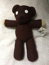 Vintage Mr Bean Teddy Bear Brown Knitted Soft Toy
