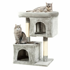 Luxury Cat Tree Tower for Large Cats With Double Cozy Plush Condos & Sisal Post