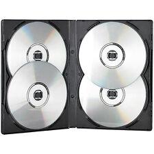 DVD Case: CD/DVD Soft Hülle für 4 DVDs 10er-Set schwarz (CD- / DVD-Box)