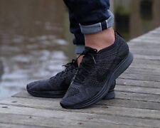 "BNWB Nike Flyknit Racer Triple Black "" Midnight "" Blackout Trainers UK Size 7"