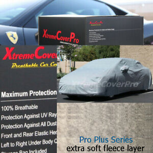 1998 1999 2000 2001 Cadillac Seville Breathable Car Cover w/Fleece Dark Gray