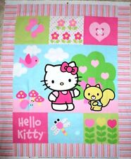 HELLO KITTY FABRIC PANEL nursery QUILT HELLO KITTY PATCH WALLHANGING NEW 2013