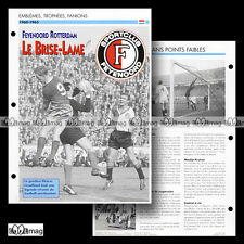 #070.06 - FEYENOORD ROTTERDAM 1960-1963 Photo PIETERS GRAAFLAND Fiche Football