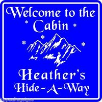 Personalized Welcome To Cabin Home Lodge Gift Sign  #7 Custom USA Made