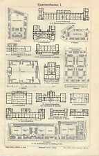 Old print Barracks Kazerne architectuur Architecture Antique print