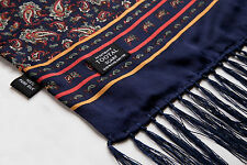 Authentic Tootal Vintage Silk Mod Scarf Medium Navy Paisley **Brand New**