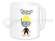 Personalised Diving Gift Scuba Diver Mug Cup Novelty Girl Divers Present Idea #1