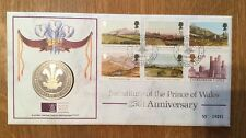 Coin & Stamp Cover-25th Anniversary Of The Investiture Of The Prince Of Wales