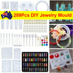 289 PCS Jewelry Mould Handmade Crystal Glue Making Set Resin Silicone DIY Mold