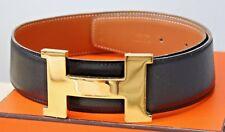 """Hermès cinturón 42 mm """"Constance"""" con dorada con Hermes hebilla talla 65 productos originales"""