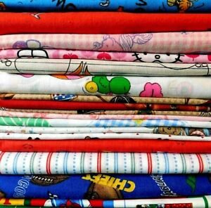Fabric lot - 100% Cotton, Children Prints - Quilting, Craft,16 Prints - 16 YDs.