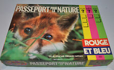 PASSEPORT pour la NATURE Rouge et Bleu FRENCH BOARD GAME Fernand Nathan 1960s