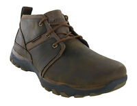 Skechers Lutador Memory Foam Leather Lace Up Brown Mens Ankle Boots UK6.5-13