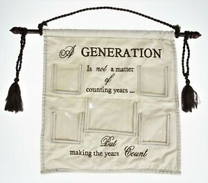 Generation Cloth 5 Picture Holder Family Wall Hanging Banner