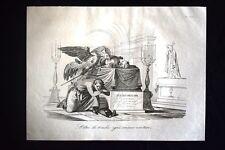 Incisione d'allegoria e satira Col. Bersaglieri Pietro Mellara Don Pirlone 1851