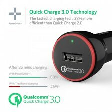 Anker PowerDrive+ 1 with Quick Charge 3.0 24W Car Charger & 0.9m MicroUSB Cable