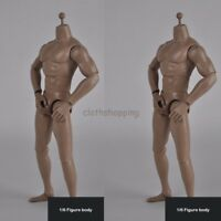 """1/6 Strong Muscular Male Action Figure Body Doll For 12"""" HT Man Head Sculpt"""