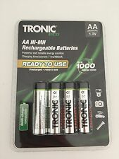 4 PILES ECO BATTERIE RECHARGEABLE TRONIC  AA