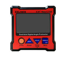 DXL360S High Precision Digital Protractor Inclinometer Level Box 0.01° H
