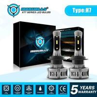 H7 LED Headlight Conversion Kit Bulbs High Low Beam 6000K White 2100W 315000LM
