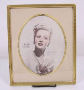 Hollywood Regency 40's 50's Virginia Mayo Metal Vignette Rare Large Easel Frame