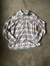 Mens Allsaints Murakami Long Sleeve Button Up Pastel Colour Shirt Medium