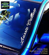 AUSSIE OUTLAW Windscreen Sticker Decal BNS Skid Ute 500mm
