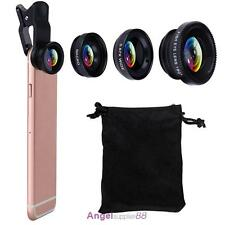 3in1 Fish Eye + Wide Angle + Macro Camera Clip-on Lens for iPhone 7/6S/6 Plus