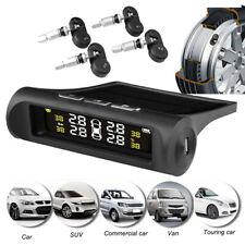 Solar Wireless TPMS Car Tire Tyre Pressure Monitoring System w/4 Internal Sensor