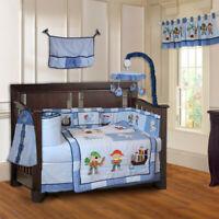 BabyFad 10 Piece Pirates Baby Crib Bedding set