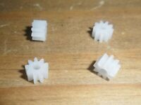 Scalextric 4 X 9 teeth new pinions shorter to fit Johnson & Mabucchi car spares.