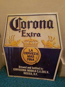 Corona extra tin sign