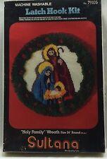 "Vintage Sultana Holy Family Wreath Latch Hook Kit 24"" Round #79105 New Sealed"