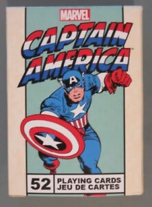 Captain America Playing Cards 52 Card Deck Marvel Comics (S5)