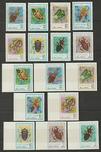 1982 Vietnam Stamps Insects Scott # 1221 - 1228 Imperf. & Imperforated MNH