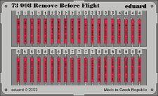 EDUARD MODELS 1/72 Aircraft- Remove Before Flight Tags (Painted) EDU73008