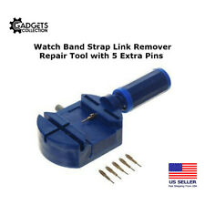 Watch Band Strap Bracelet Link Remover Repair Tool with 5 Extra Pins - Blue Body