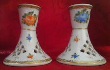 couple candélabre porcelaine La Reine