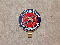 DARLINGTON FIRE DEPARTMENT - LICENSE PLATE TOPPER