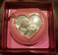 Liz Claiborne Pink Zippered Jewelry Case W/Picture Frame & Charm