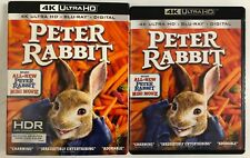 PETER RABBIT 4K ULTRA HD BLU RAY 2 DISC+ RARE OOP SLIPCOVER SLEEVE FREE SHIPPING