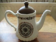 VINTAGE ART DECO STAFFORDSHIRE GRINDLEY AND CO LTD COFFEE POT SATIN WHITE IRONST