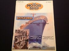 VINTAGE 1957 THE MOTOR SHIP TANKERS DOXFORD M V TUSCANY
