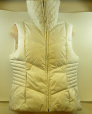 Women's Tommy Hilfiger Down Duvet Filled White Vest Size Small Full Zip Pockets